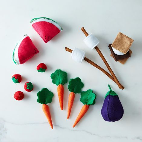 Kid's Felt Plush Food Set