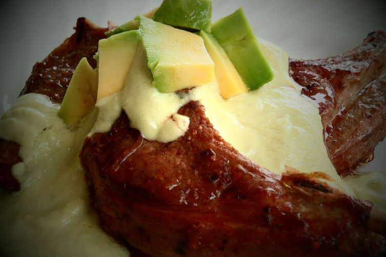 Ginger Lamb Cutlets with Apple and Avocado Cream