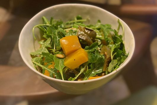 Golden Beet and Green Chile Salad