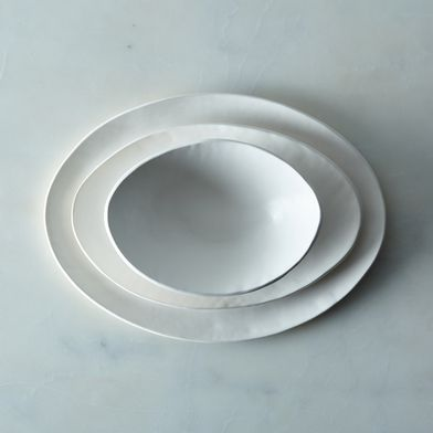 Food52 Handmade Oval Dinnerware, by Looks Like White