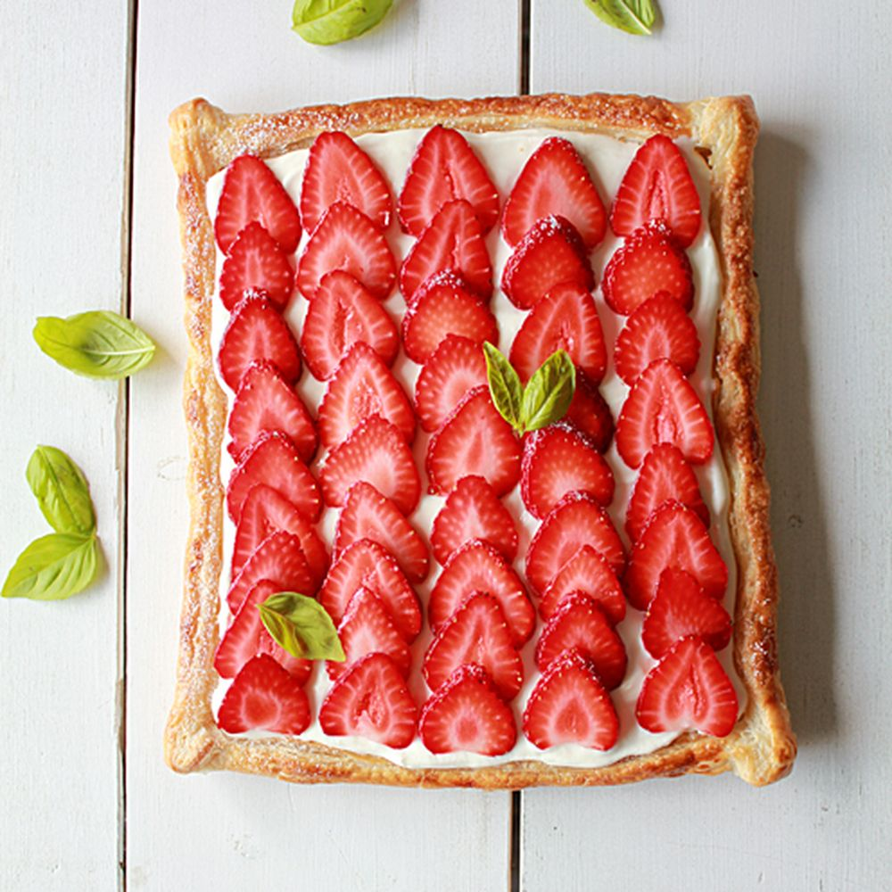 Strawberry Cream Cheese Puff Pastry Tart Recipe On Food52