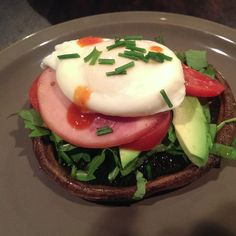 Poached Egg with Portobello Mushroom