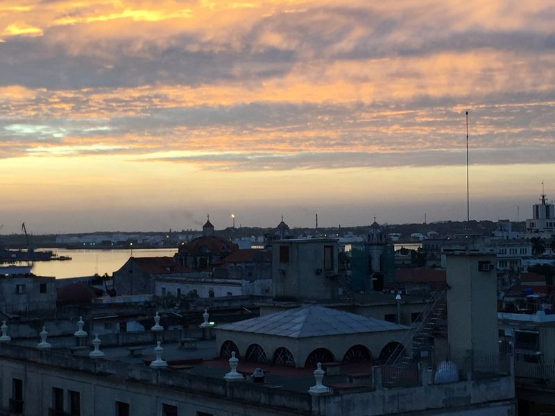 Sunrise in Old Havana.