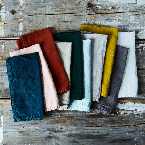 Stonewashed Linen Napkins (Sets of 4)