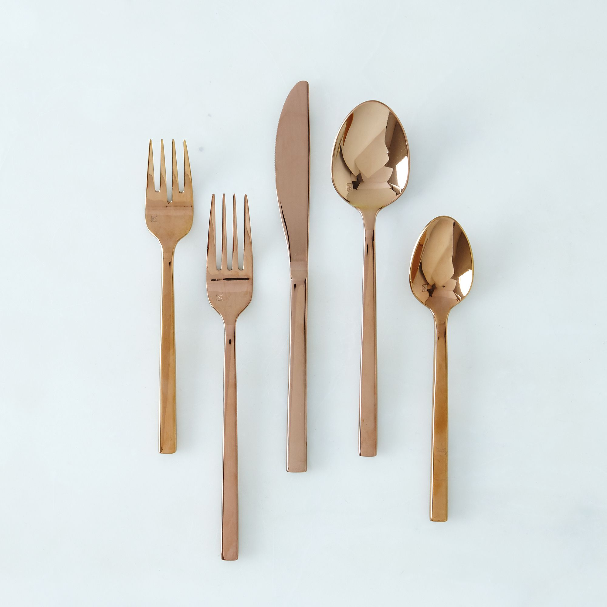 100 flatware sets buy mila gold plated 45 piece Unique flatware sets