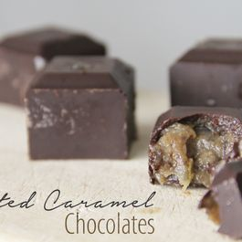 Raw Salted Caramel Filled Chocolates