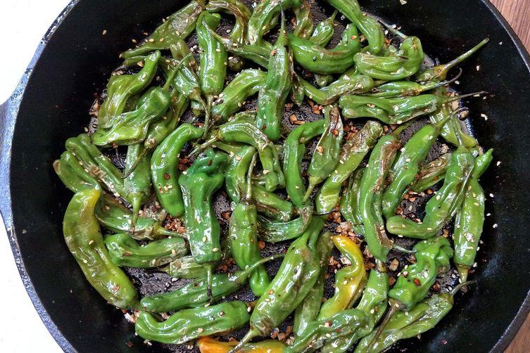 Asian Pan-Fried Shishito Peppers