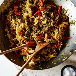 Jerk-Spiced Chicken Noodles, Courtesy of Your Pantry