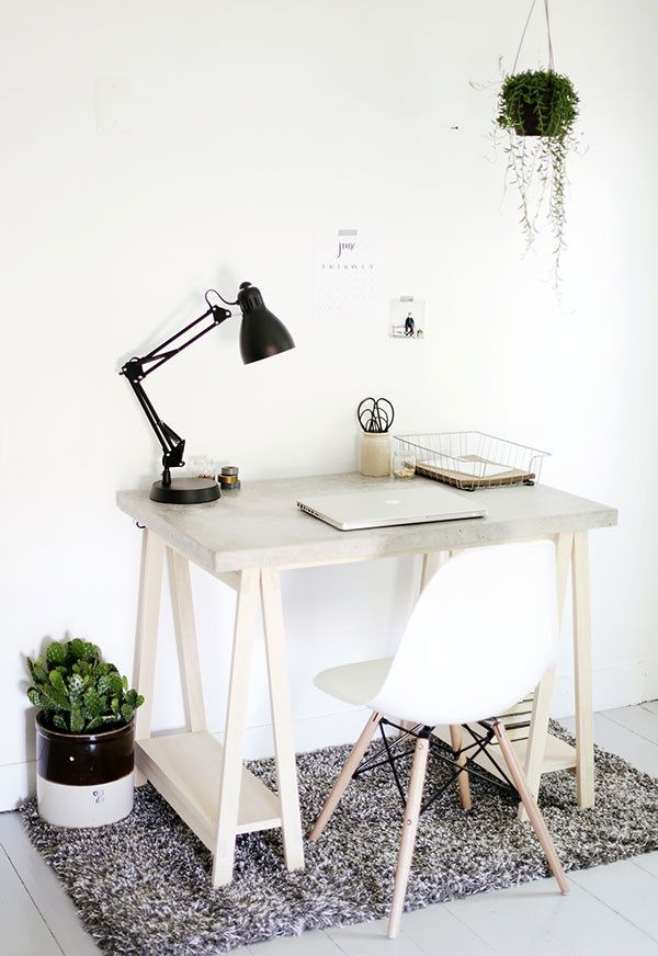 Home and Design Links Concrete Desk ABM