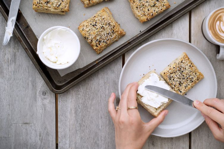 Everything Bagel Spice and Cream Cheese Scones