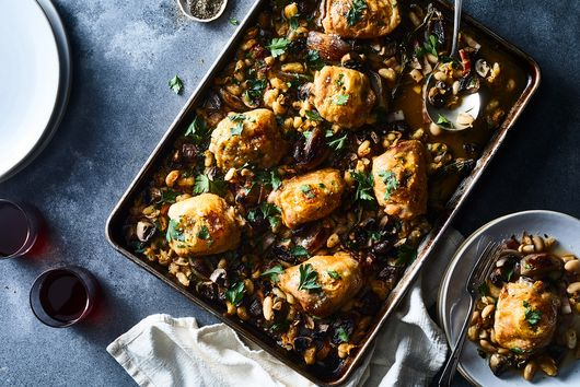 Sheet Pan Coq Au Vin
