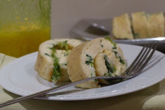 Spinach Gruyere Roulade