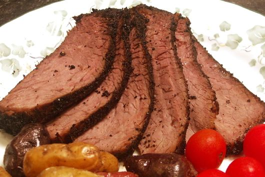 Coffee & Chipotle Crusted London Broil