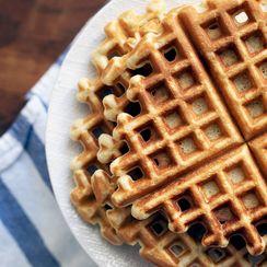 Sour Cream Cornmeal Waffles