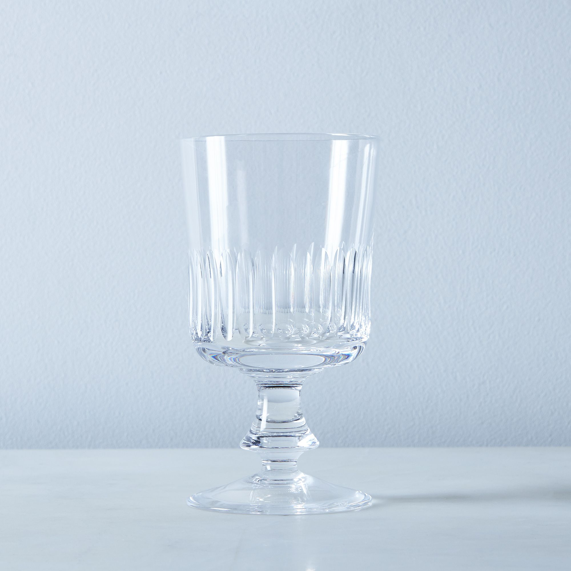 Close Ribs Vintage Italian Crystal Glassware - Fiorello, Goblet