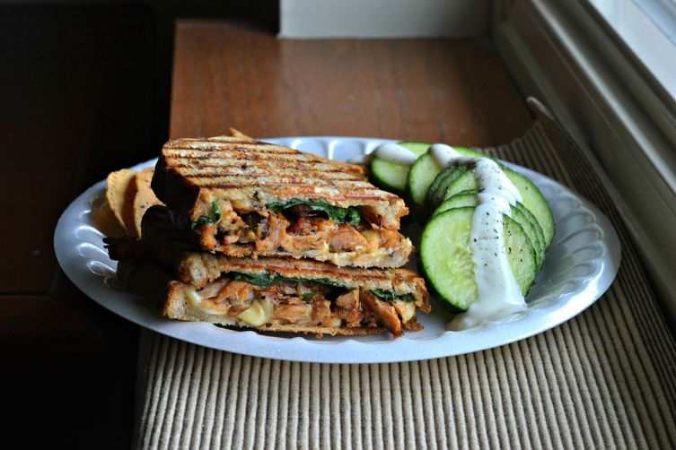BBQ Rib and Spinach Panini