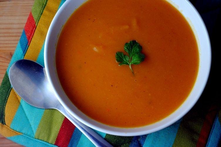 Sweet Potato Soup with Attitude