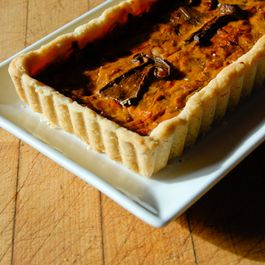 Wildly Interesting Wild Mushroom & Arugula Tart