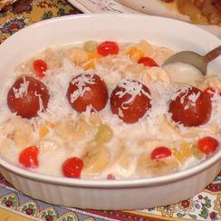 Heavenly Coconut Fruit Cream