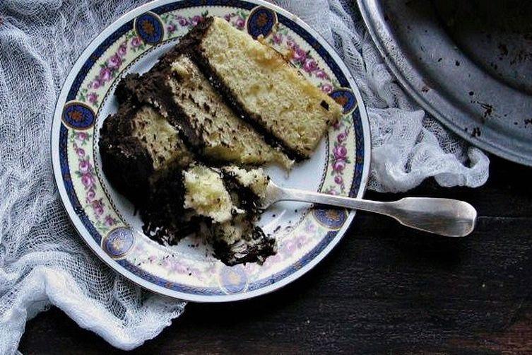 blood orange buttermilk cake with dark chocolate orange frosting