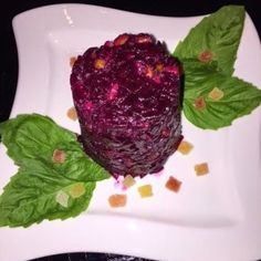 Roasted Beet Salad with Walnuts and Prunes