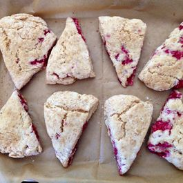 Raspberry Coconut Scones