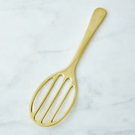 Brass Slotted Serving Spatula