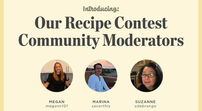 Introducing: Our New Recipe Contest Community Moderators