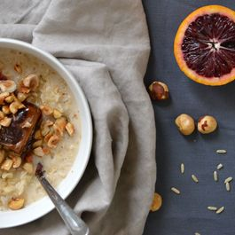 Brown Rice Winter Porridge & Toasted Hazelnuts
