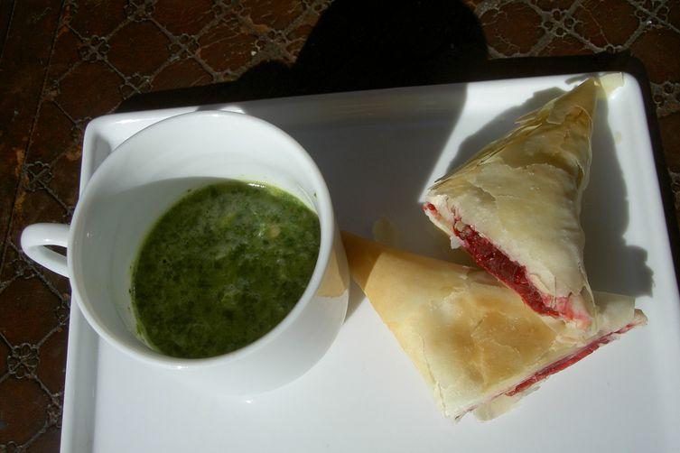 Beet Samosas with Mint Sauce
