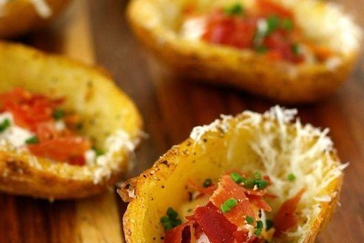 Pecorino and Black Pepper Potato Skins