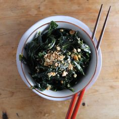 Collard Greens with Lime + Peanuts