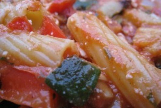 Baked Rigatoni With Roasted Vegetables