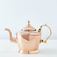 Vintage Copper Teapot, Mid 19th Century