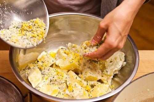 Crispy Cream-Braised Potatoes and Fennel