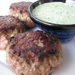 Lamb Kebab with Yogurt Mint Chutney