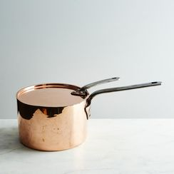 Vintage Copper English Saucepan, Mid 19th Century