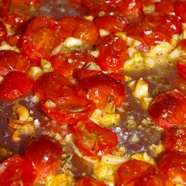 Heirloom Red Quinoa with Roasted Tomatoes and Chick Peas