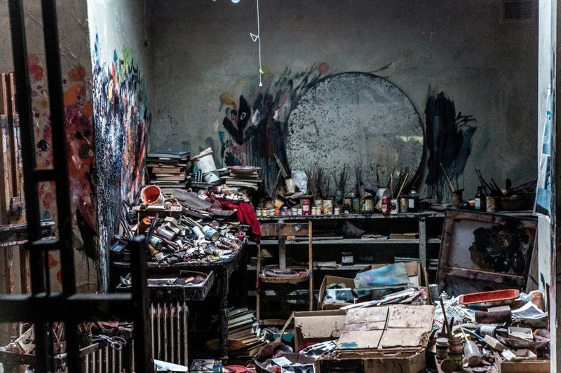 Francis Bacon's studio. Creative types aren't necessarily bound to their unkempt ways.