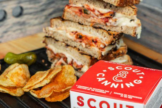 Ooey Gooey Swooningly Delicious Mussel Grilled Cheese with Provolone