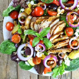Grilled Mediterranean Chicken Salad