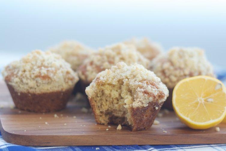 Meyer Lemon Muffins with Almond Streusel