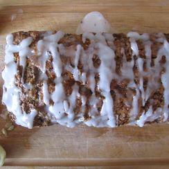 Whole Wheat Zucchini Spice Cake with Lemon Glaze
