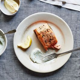 97e537f1 60d5 437b 8e2b 791016633ab4  2016 0712 perfect roast salmon with greek yogurt sauce bobbi lin 2876