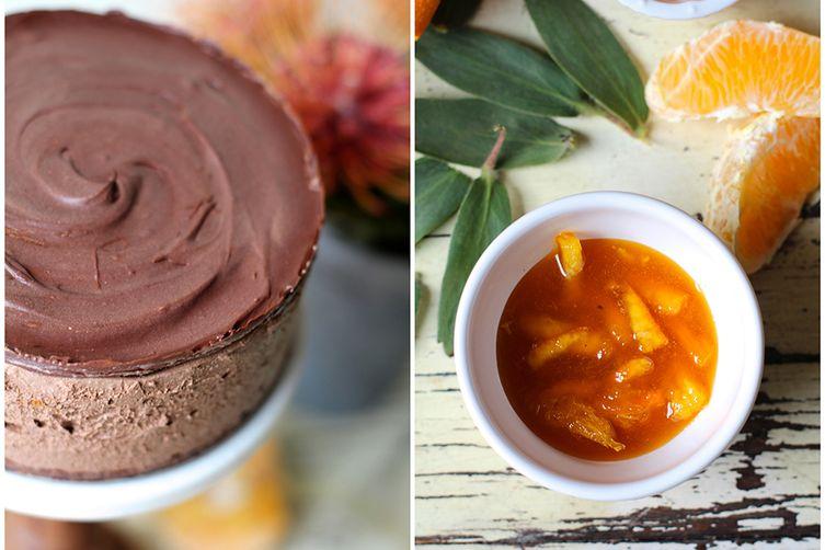 No-Bake Chocolate Orange Mousse Cake