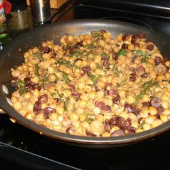 Pan Fried Garbanzos