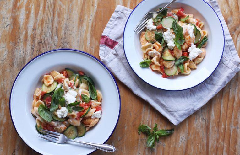 Your New Summer Pasta: Orecchiette with Zucchini, Tomato, and Ricotta