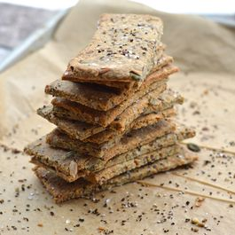 Cracked Pepper and Sea Salt Multi-Seed Crackers