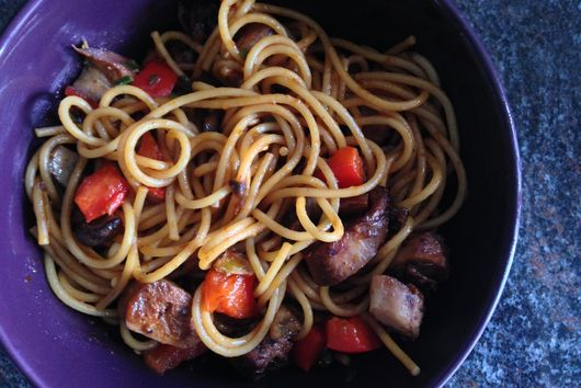 Ginger Lo Mein with Octopus