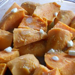Roasted Sweet Potatoes with Ginger & Citrus for LouLou